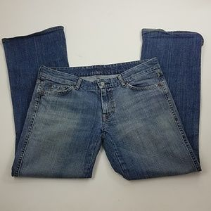 """7 FOR ALL MANKIND """"A"""" pocket bootcut jeans sz 31"""